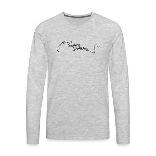 Southern Sportfishing - Black Logo - Men's Premium Long Sleeve T-Shirt