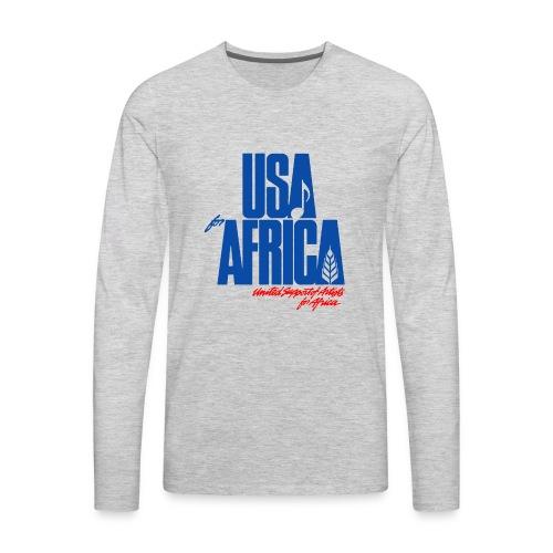 USA for africa merch - Men's Premium Long Sleeve T-Shirt