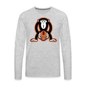Monkey-Football - Men's Premium Long Sleeve T-Shirt