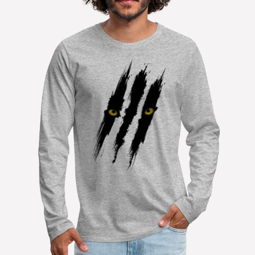 Black Panther Scratch - Men's Premium Long Sleeve T-Shirt