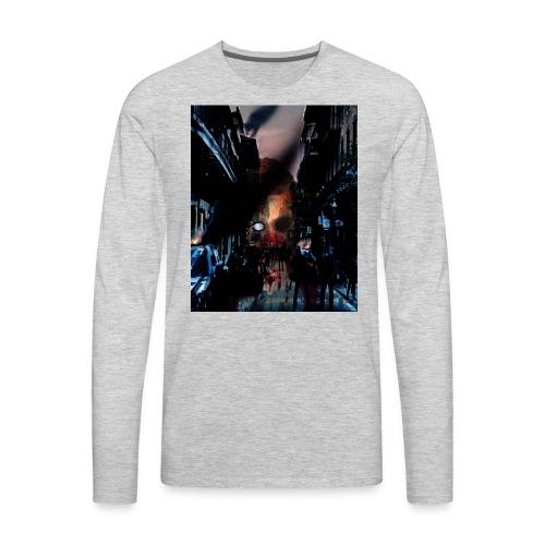 zombie horror, halloween horror nights t-shirt - Men's Premium Long Sleeve T-Shirt