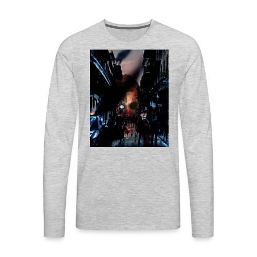 zombie horror, halloween horror nights t-shirt - Men's Premium Long Sleeve T-Shirt