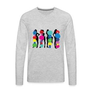 Girls Pose - Men's Premium Long Sleeve T-Shirt