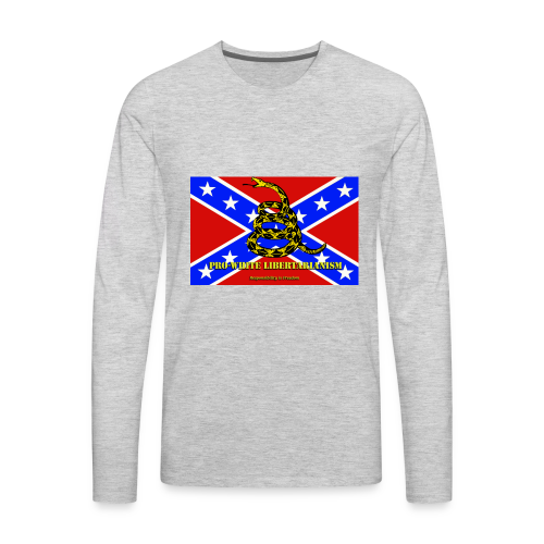 Pro-White Libertarianism Flag - Men's Premium Long Sleeve T-Shirt