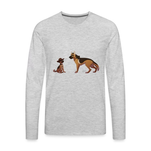 police dog - Men's Premium Long Sleeve T-Shirt