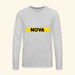 Nova Box Logo - Men's Premium Long Sleeve T-Shirt