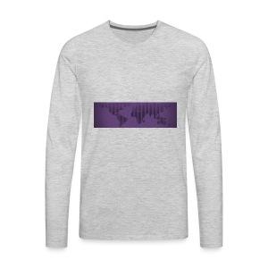 flat earth - Men's Premium Long Sleeve T-Shirt