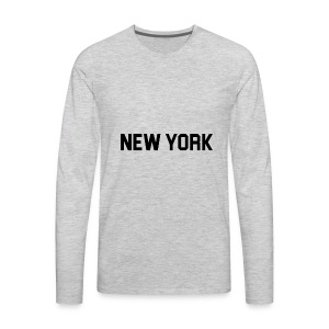 New York Yankee - Black - Men's Premium Long Sleeve T-Shirt