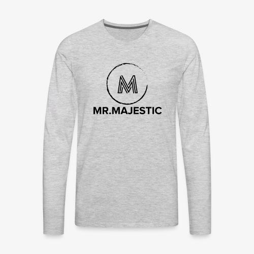 Majestic logo - Men's Premium Long Sleeve T-Shirt