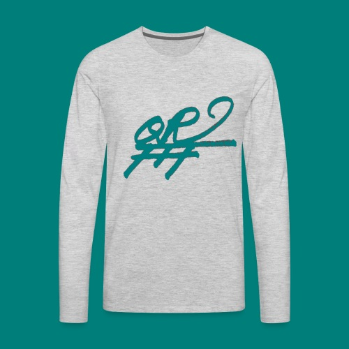QRFFF RAW SHARPIE WINNING GREEN - Men's Premium Long Sleeve T-Shirt