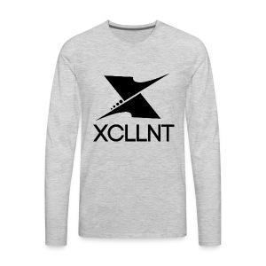 Xcllnt Logo Black - Men's Premium Long Sleeve T-Shirt