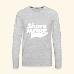 share more retro white - Men's Premium Long Sleeve T-Shirt