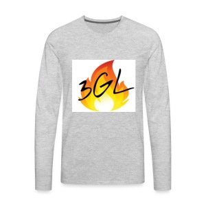 Hot logo full whiteu - Men's Premium Long Sleeve T-Shirt