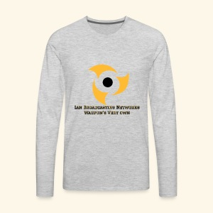 Official Grey Color Apparel Waupun's Very Own IBN - Men's Premium Long Sleeve T-Shirt