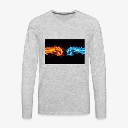 fight the battle - Men's Premium Long Sleeve T-Shirt