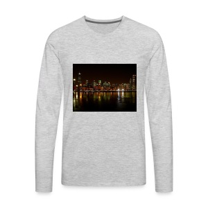 chicago skyline - Men's Premium Long Sleeve T-Shirt
