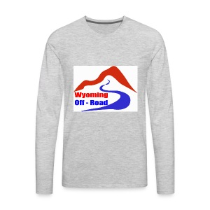 Wyoming Off Road Logo - Men's Premium Long Sleeve T-Shirt