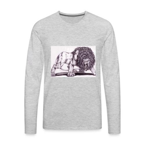 Lion Tee - Men's Premium Long Sleeve T-Shirt