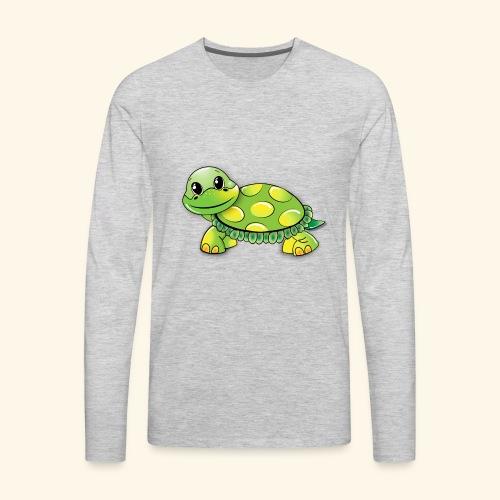 Green turtle cartoon - Men's Premium Long Sleeve T-Shirt