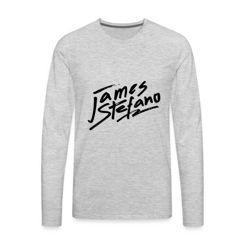 James Stefano 2017 Merchandise Black Logo - Men's Premium Long Sleeve T-Shirt