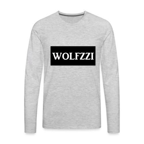 wolfzzishirtlogo - Men's Premium Long Sleeve T-Shirt