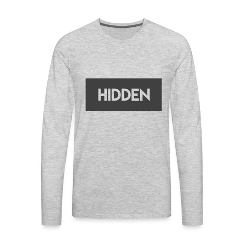 Hidden Grey and Transparent Logo - Men's Premium Long Sleeve T-Shirt