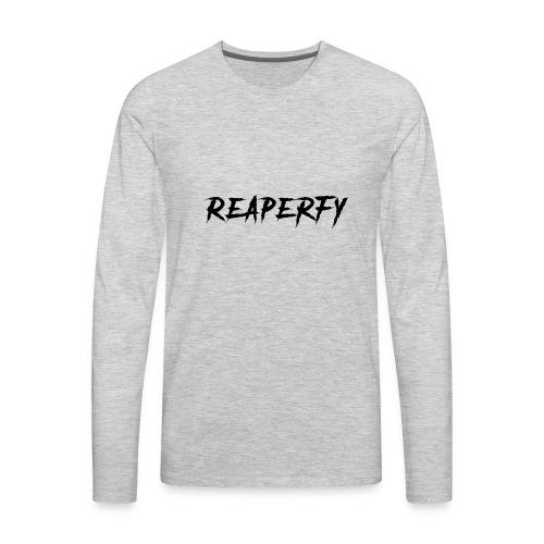 Reaperfy Transparent Logo Black - Men's Premium Long Sleeve T-Shirt