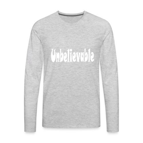T-shirt (black) - Men's Premium Long Sleeve T-Shirt