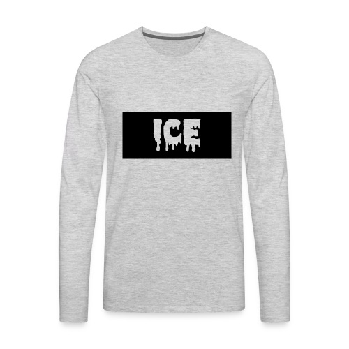 Ice Apperall Box Logo - Men's Premium Long Sleeve T-Shirt