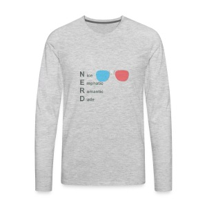 The REAL definition of NERD - Men's Premium Long Sleeve T-Shirt