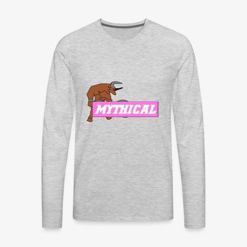 Mythical Logo Design - Men's Premium Long Sleeve T-Shirt