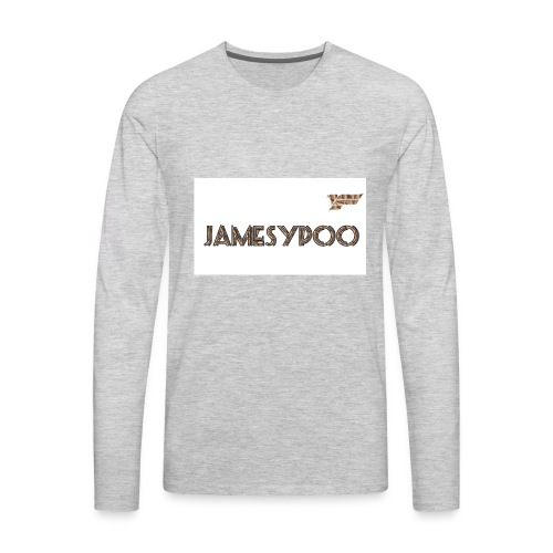 Jamesypoo logo - Men's Premium Long Sleeve T-Shirt