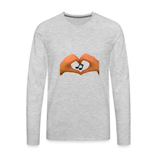 hands of music - Men's Premium Long Sleeve T-Shirt