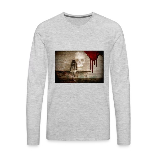 sad girl - Men's Premium Long Sleeve T-Shirt