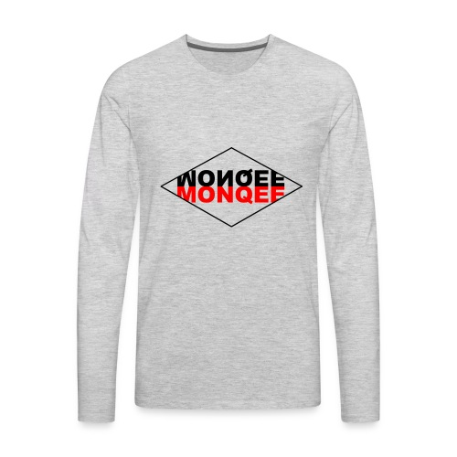 BLACK AND RED - Men's Premium Long Sleeve T-Shirt