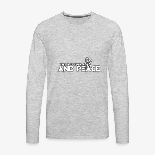 And Peace - Men's Premium Long Sleeve T-Shirt