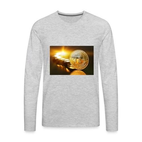 Bitcoin #1 - Men's Premium Long Sleeve T-Shirt