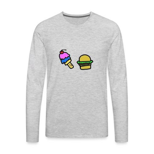 Ice Cream and cheeseburgers - Men's Premium Long Sleeve T-Shirt