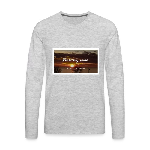 THE HAPPY CANADIAN - Men's Premium Long Sleeve T-Shirt
