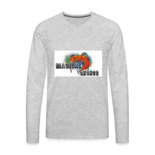 Magical Geckos Logo - Men's Premium Long Sleeve T-Shirt