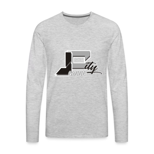 JeanneCityLogoOfficialBnW - Men's Premium Long Sleeve T-Shirt