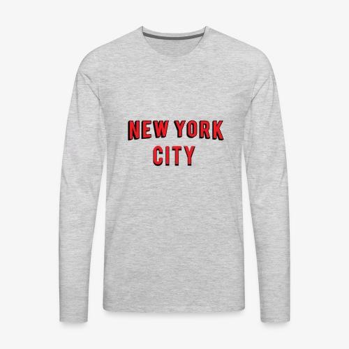 NEW YORK CITY Netflix T-shirt - Men's Premium Long Sleeve T-Shirt