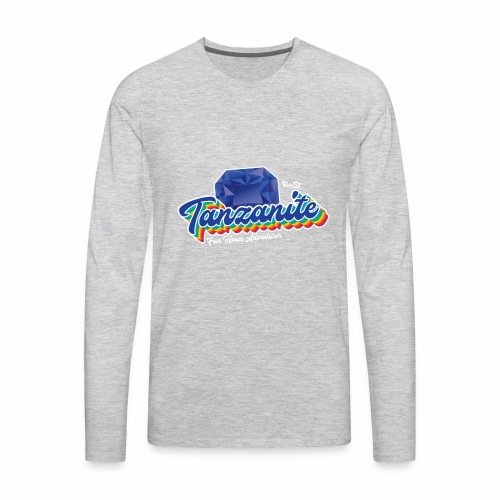 Tanzanite Birthstone Gem - Men's Premium Long Sleeve T-Shirt