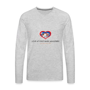 loveatfirstbarklogo - Men's Premium Long Sleeve T-Shirt