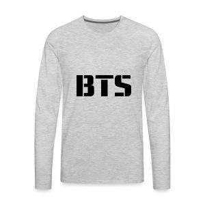 BTS Wordmark svg - Men's Premium Long Sleeve T-Shirt