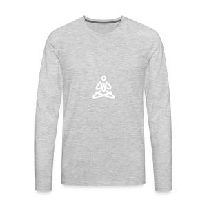 white logo transparent background - Men's Premium Long Sleeve T-Shirt