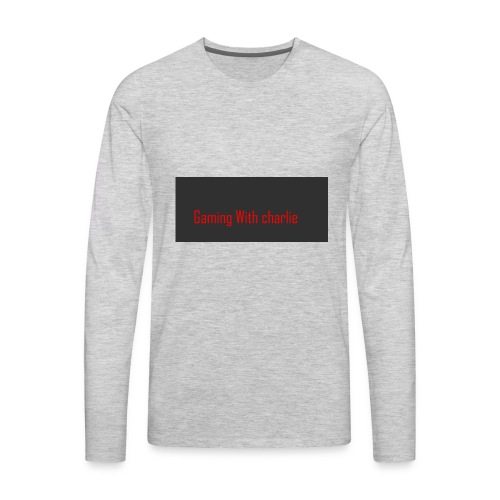 Gaming with charlie merch design - Men's Premium Long Sleeve T-Shirt