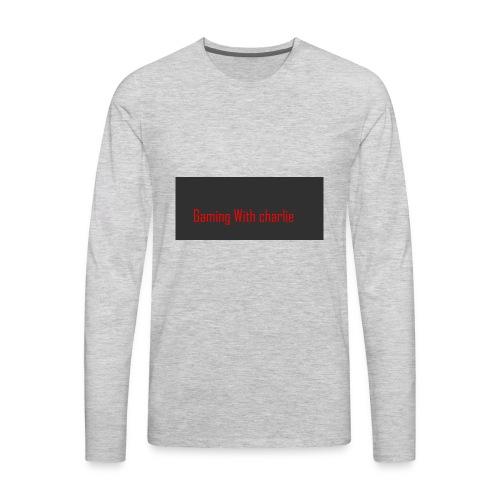 Gaming with charlie merch design - Men's Premium Long Sleeve T-Shirt