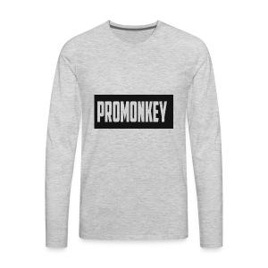 ProMonkey Logo - Men's Premium Long Sleeve T-Shirt