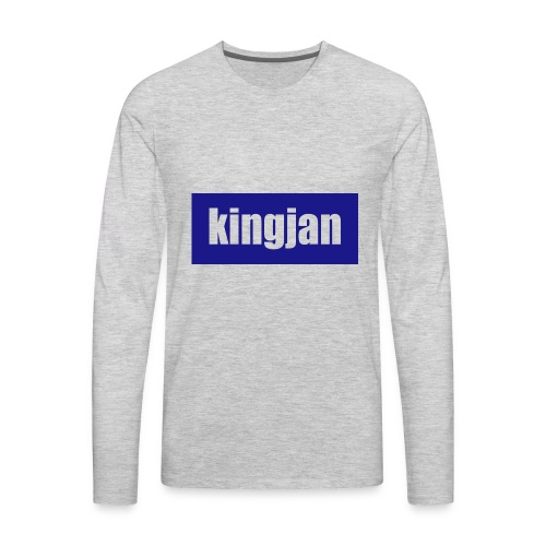 kingjan merch logo - Men's Premium Long Sleeve T-Shirt